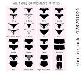 all types of women's panties.... | Shutterstock .eps vector #428241025