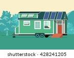 autonomous tiny house on nature....   Shutterstock .eps vector #428241205