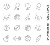 sport thin line icons | Shutterstock .eps vector #428242936