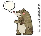 freehand speech bubble textured ... | Shutterstock .eps vector #428244958
