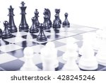 chess isolated on white... | Shutterstock . vector #428245246