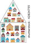 20 cool houses. vector   Shutterstock .eps vector #42824755