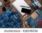 travel accessories plan for... | Shutterstock . vector #428248336