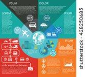 transportation infographics... | Shutterstock .eps vector #428250685