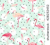 flamingo bird background. retro ... | Shutterstock .eps vector #428252452