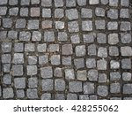 Gray Square Stones Paved Road.