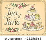 illustration with the words tea ... | Shutterstock .eps vector #428256568