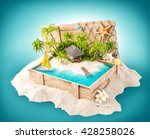 fantastic tropical island with... | Shutterstock . vector #428258026