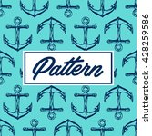 seamless vector pattern with... | Shutterstock .eps vector #428259586