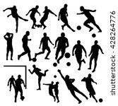 soccer players silhouettes | Shutterstock .eps vector #428264776