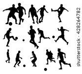 soccer silhouettes | Shutterstock .eps vector #428264782