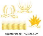 Cereal banners isolated on white as an agriculture concept. Jpeg version also available - stock vector