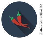 chili pepper icon. flat design. ...