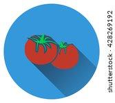 tomatoes icon. flat design....
