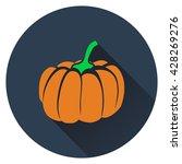 pumpkin icon. flat design....