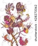 futuristic flowers   Shutterstock .eps vector #428273362