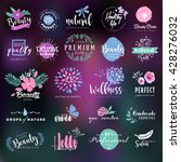 cosmetics and beauty labels and ... | Shutterstock .eps vector #428276032