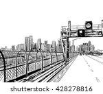 australia. city sydney. hand... | Shutterstock .eps vector #428278816