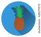 pineapple icon. flat design....