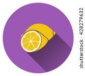 lemon icon. flat design. vector ...