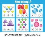 counting educational children... | Shutterstock .eps vector #428280712