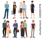 international adult people... | Shutterstock .eps vector #428281978