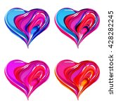 vector colorful abstract hearts ... | Shutterstock .eps vector #428282245