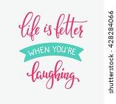 romantic love lettering.... | Shutterstock .eps vector #428284066