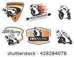 set of racing motorcycle logo ...   Shutterstock .eps vector #428284078