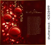 christmas background with red... | Shutterstock .eps vector #42828499