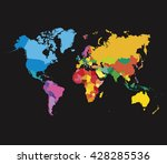 color world map template.... | Shutterstock .eps vector #428285536