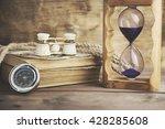 hourglass  telescope on the... | Shutterstock . vector #428285608