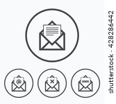 mail envelope icons. message... | Shutterstock . vector #428286442