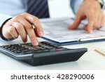 close up view of bookkeeper or... | Shutterstock . vector #428290006