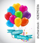 happy birthday card template... | Shutterstock .eps vector #428290336