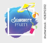 summer vector. summer party... | Shutterstock .eps vector #428292202