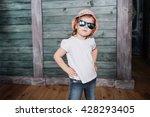 Fashion Little Girl  A Child...