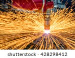 cnc laser cutting of metal ... | Shutterstock . vector #428298412