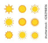 sun collection icon sign set ...