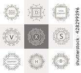 set logos  business signs... | Shutterstock . vector #428299396