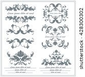 set of decorative floral... | Shutterstock . vector #428300302