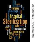 sterilization  word cloud... | Shutterstock . vector #428302042