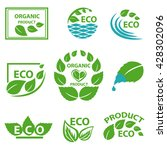 organic products  leaflet ... | Shutterstock . vector #428302096