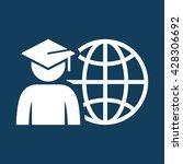 world graduating cap student... | Shutterstock .eps vector #428306692