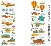 vector doodle set of travel and ... | Shutterstock .eps vector #428307778