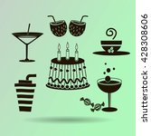 sweet desserts and cafe. vector ... | Shutterstock .eps vector #428308606