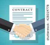 handshake of business people on ... | Shutterstock .eps vector #428319778