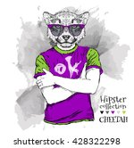 Hipster Dressed Cheetah In T...