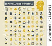 information   knowledge icons  | Shutterstock .eps vector #428324995