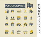public buildings icons  | Shutterstock .eps vector #428325022